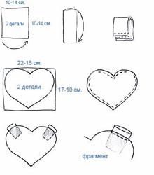 схема вязания варежек для влюбленных